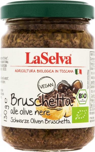 Bruschetta alle olive nere - Condimento a base di olive nere - 130g