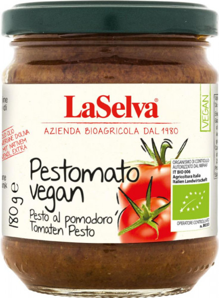 Pestomato vegan - Pesto al pomodoro - 180g