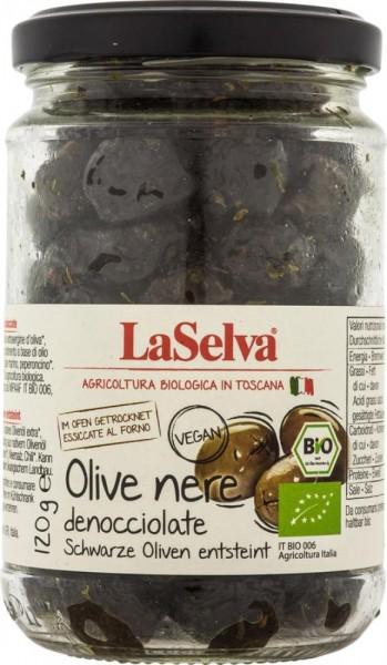 Olive nere denocciolate al forno - essiccate e condite - 120g