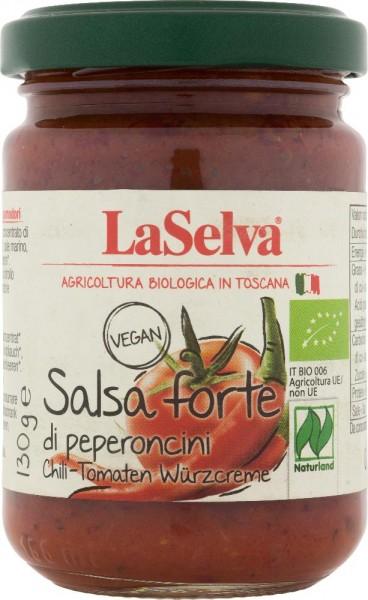 Salsa forte di peperoncini-Condimento a base di peperoncini e pomodori - 130g