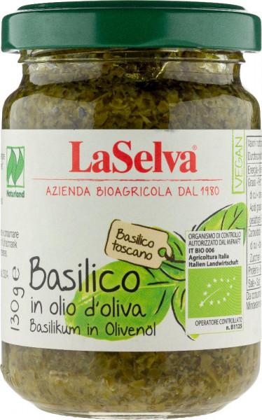 Basilico in olio d'oliva - 130g