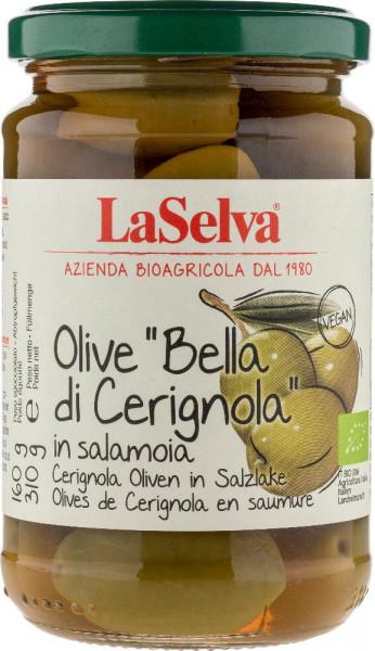 """Olive """"Bella di Cerignola""""-Olive di Cerignola con nocciolo in salamoia - 310g"""