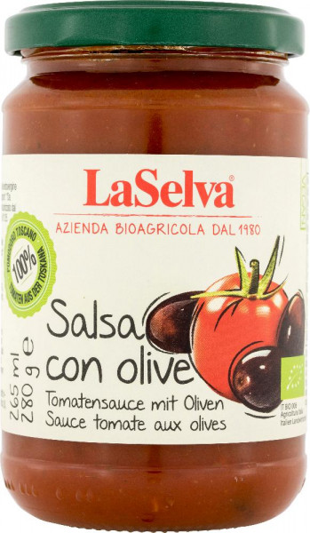 Salsa di pomodoro con olive - 280g