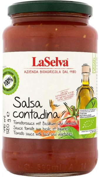 Salsa Contadina - Salsa di pomodoro con basilico e verdure - 520g