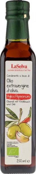 Condimento a base di Olio extravergine d'oliva, Aglio e Peperoncino - 250ml