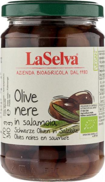 Olive nere con nocciolo in salamoia - 310g