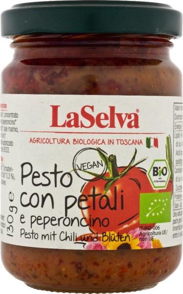 Pesto al pomodoro con petali e peperoncino - 130g