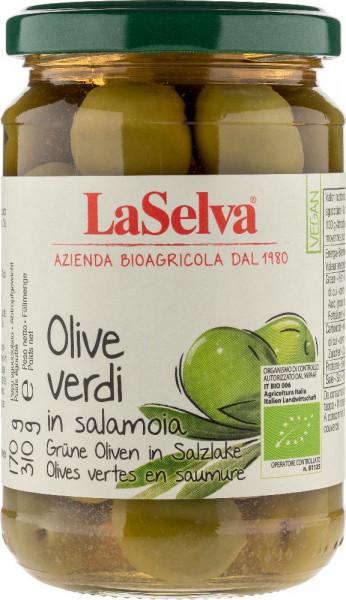 Olive verdi con nocciolo in salamoia - 310g