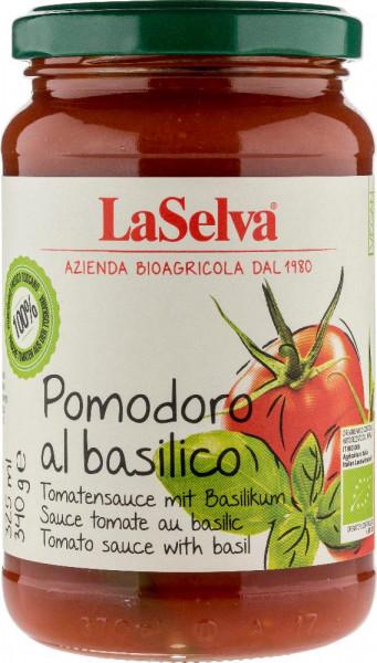 Pomodoro al basilico - Salsa di pomodoro con basilico fresco - 340g
