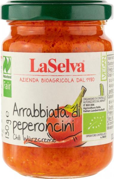 Arrabbiata di peperoncini -Condimento a base di peperoncini e peperoni - 130g
